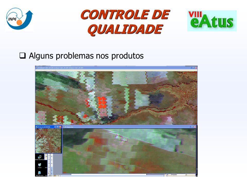 CONTROLE DE QUALIDADE Alguns problemas nos produtos