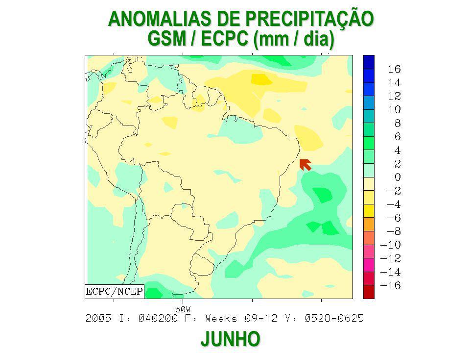 ANOMALIAS DE PRECIPITAÇÃO GSM / ECPC (mm / dia)