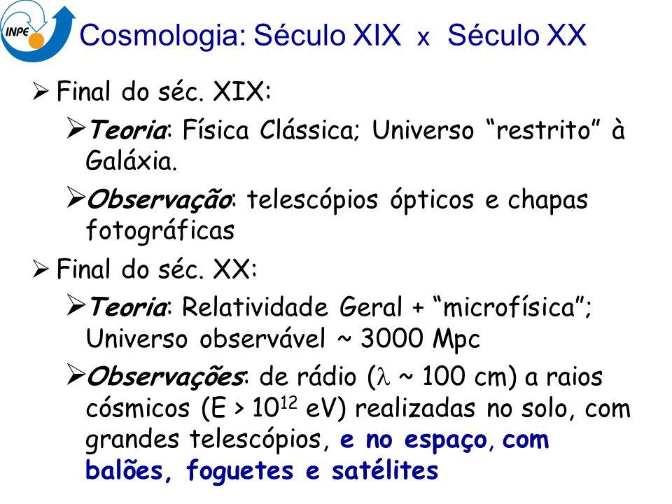 Cosmologia: Século XIX x Século XX