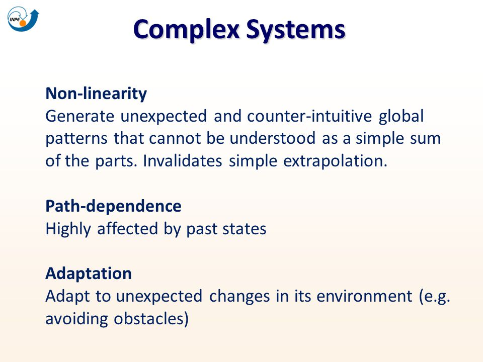 Complex Systems Non-linearity