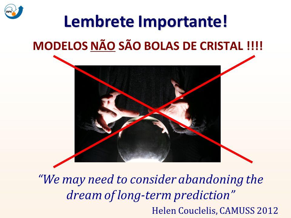MODELOS NÃO SÃO BOLAS DE CRISTAL !!!!