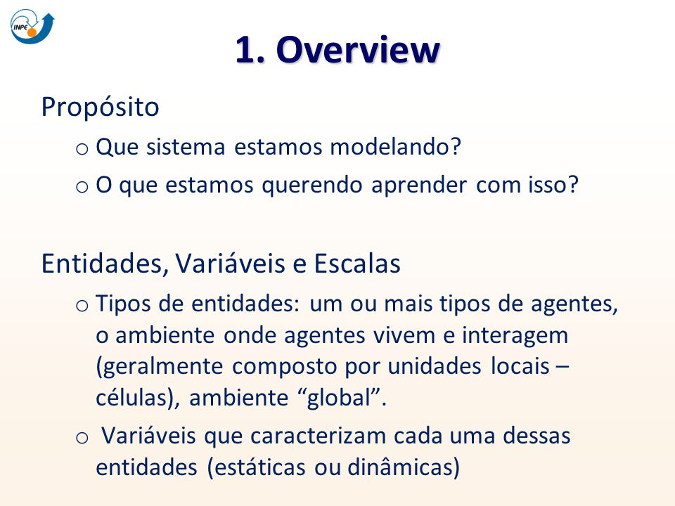 1. Overview Propósito Entidades, Variáveis e Escalas