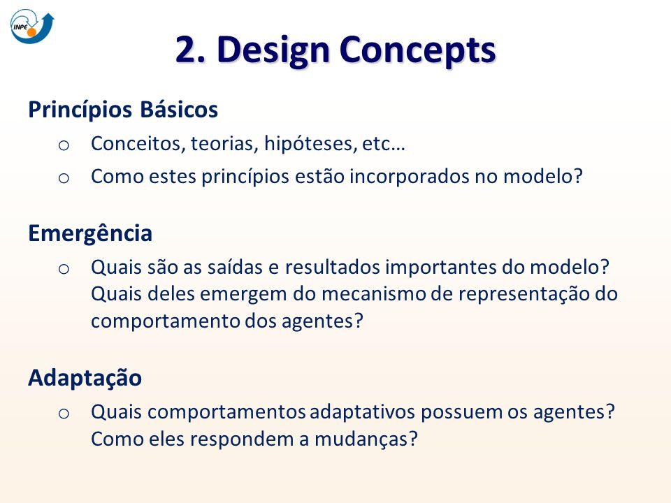 2. Design Concepts Princípios Básicos Emergência Adaptação