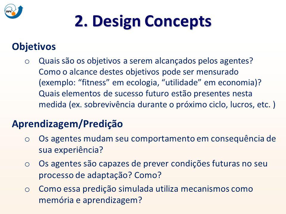 2. Design Concepts Objetivos Aprendizagem/Predição