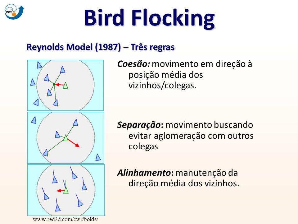 Bird Flocking Reynolds Model (1987) – Três regras