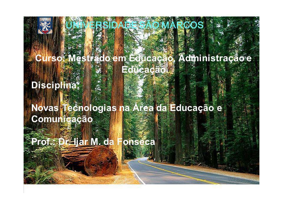 Curso: Mestrado em Educação, Administração e Educação