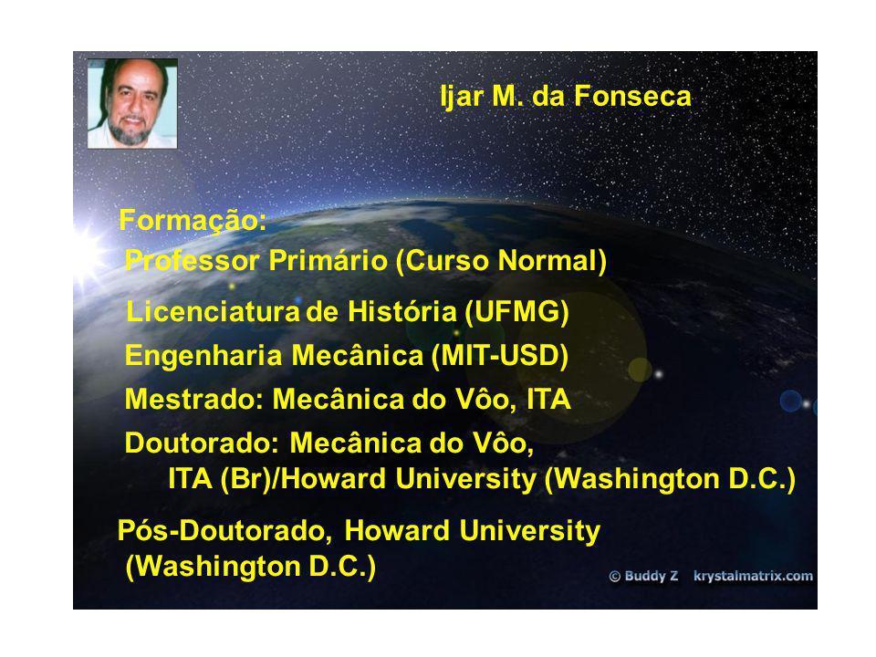 Ijar M. da Fonseca Formação: Professor Primário (Curso Normal) Licenciatura de História (UFMG) Engenharia Mecânica (MIT-USD)