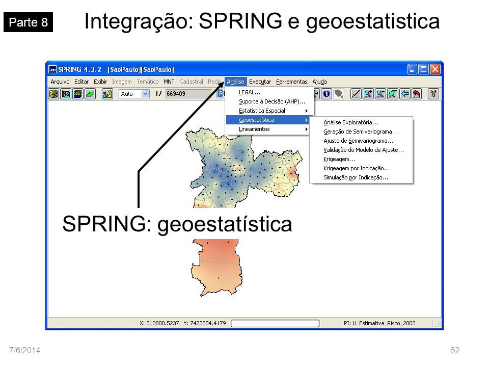 Integração: SPRING e geoestatistica