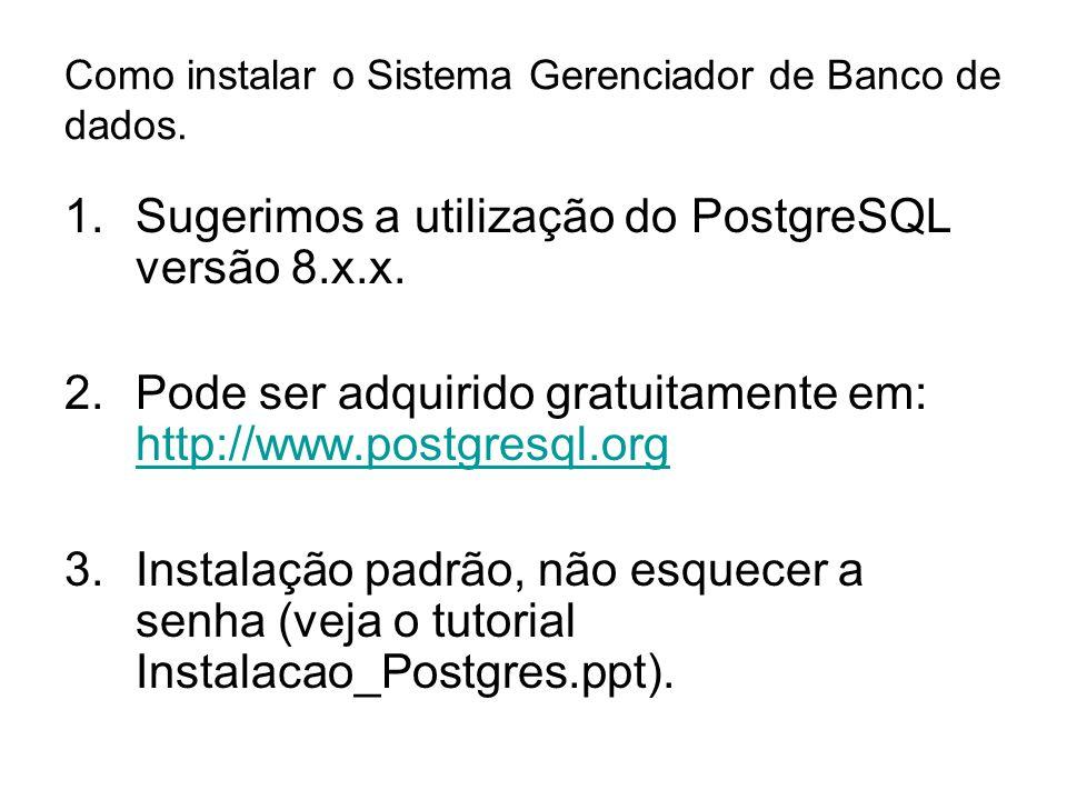Como instalar o Sistema Gerenciador de Banco de dados.