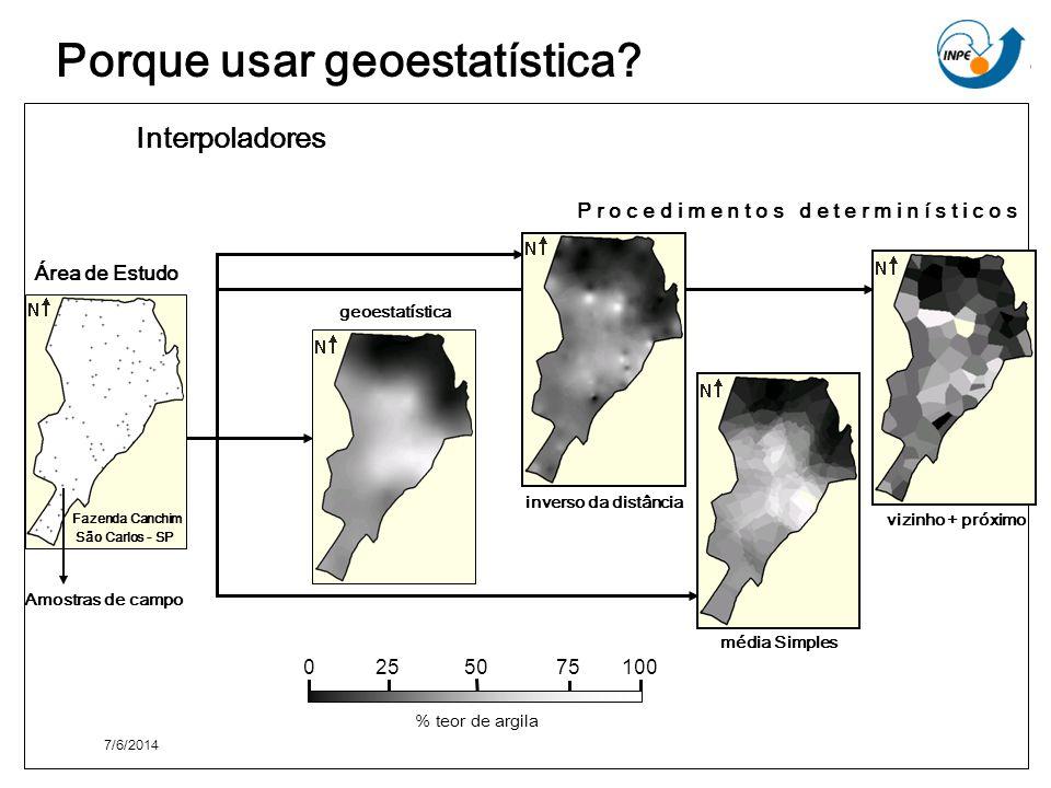 Porque usar geoestatística