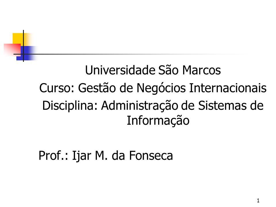Universidade São Marcos Curso: Gestão de Negócios Internacionais