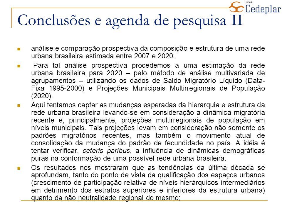 Conclusões e agenda de pesquisa II