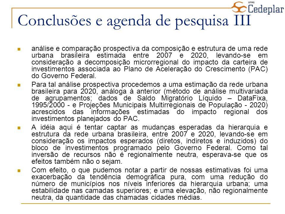 Conclusões e agenda de pesquisa III