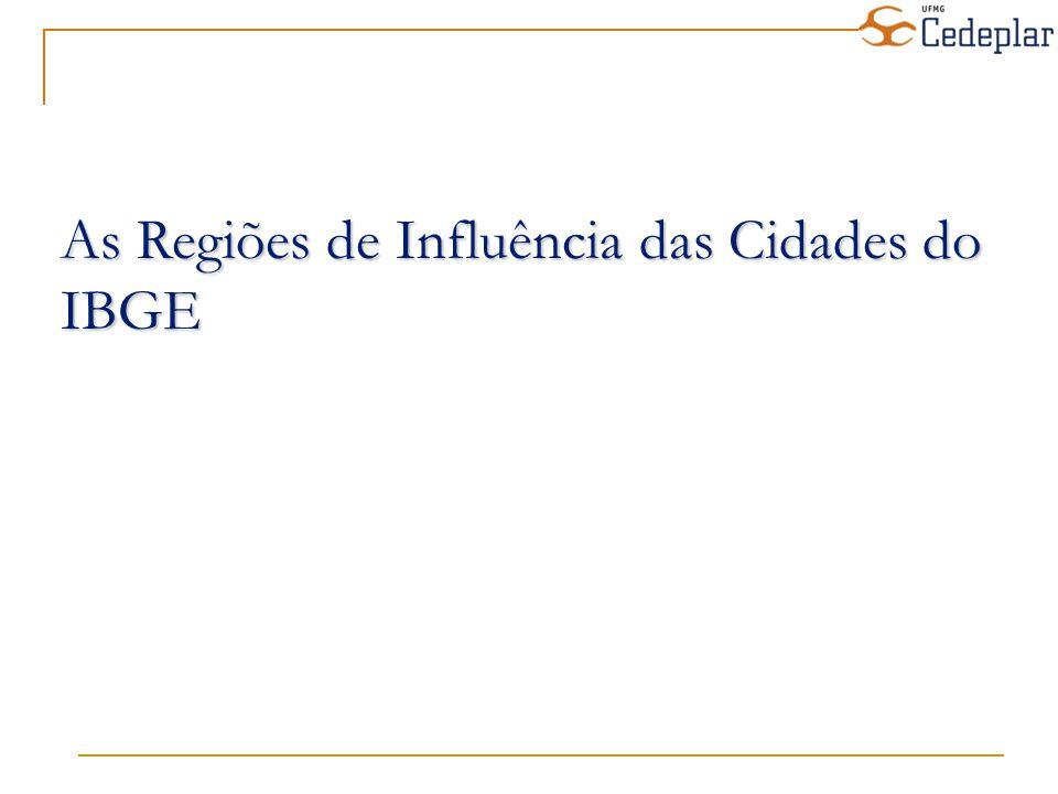 As Regiões de Influência das Cidades do IBGE