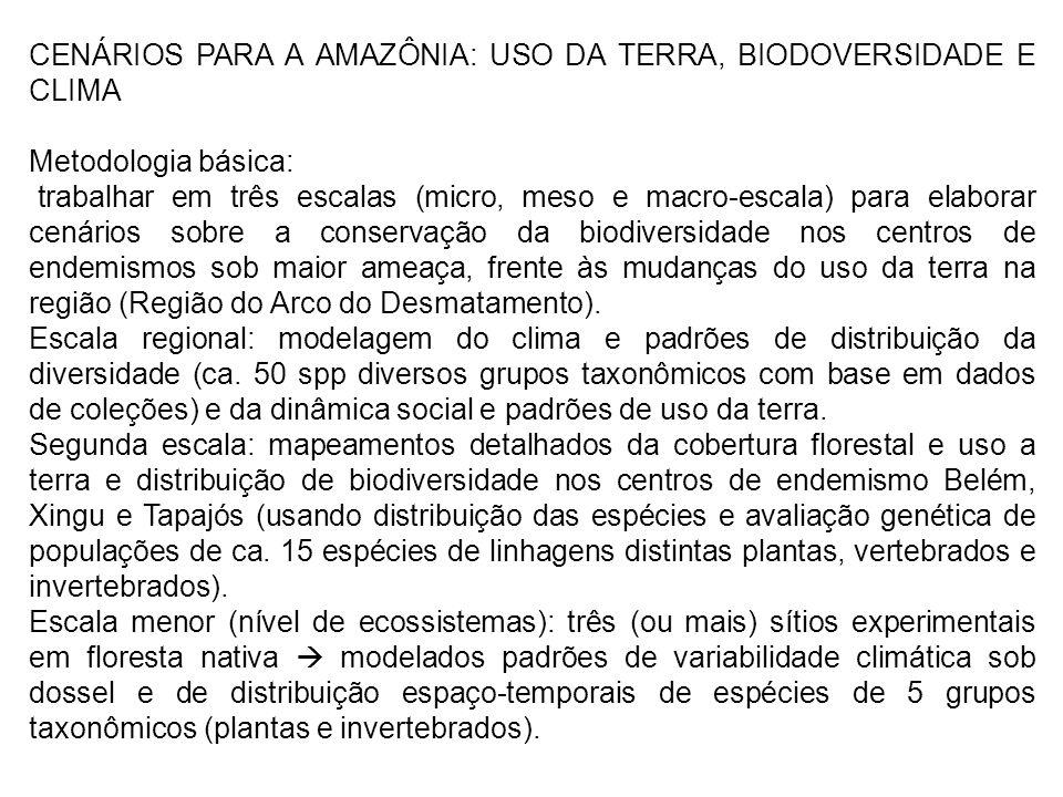 CENÁRIOS PARA A AMAZÔNIA: USO DA TERRA, BIODOVERSIDADE E CLIMA