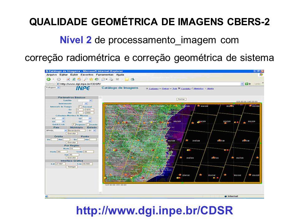 QUALIDADE GEOMÉTRICA DE IMAGENS CBERS-2