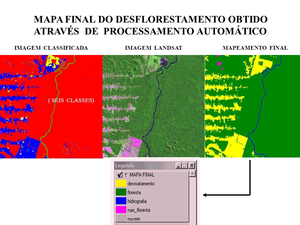MAPA FINAL DO DESFLORESTAMENTO OBTIDO