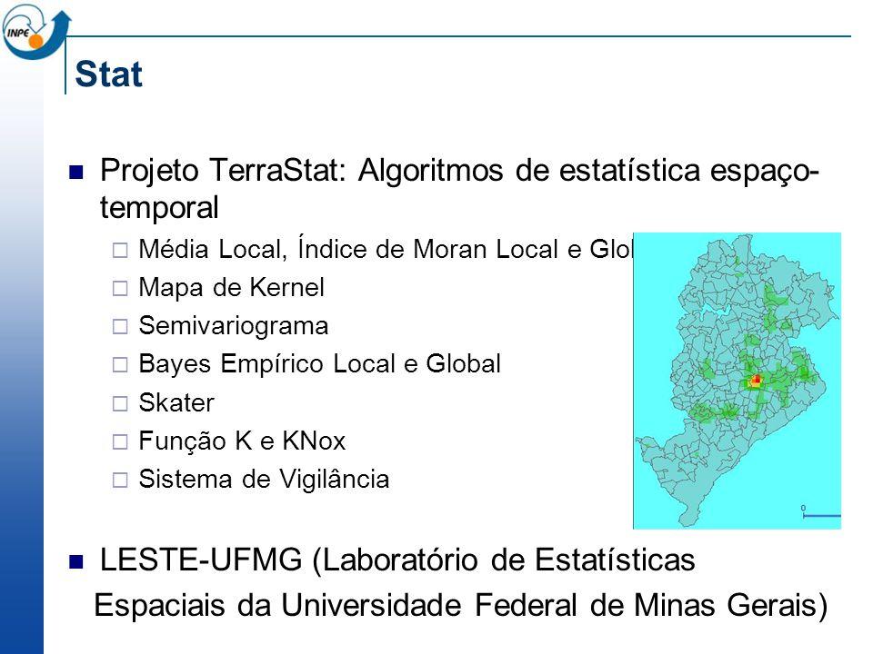 Stat Projeto TerraStat: Algoritmos de estatística espaço-temporal