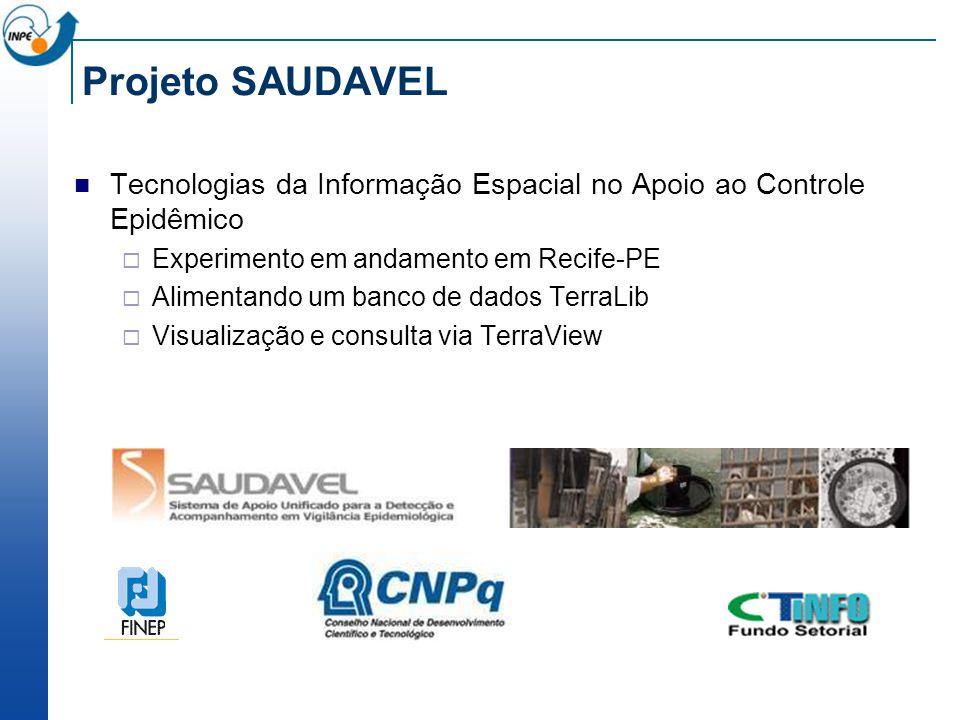 Projeto SAUDAVEL Tecnologias da Informação Espacial no Apoio ao Controle Epidêmico. Experimento em andamento em Recife-PE.