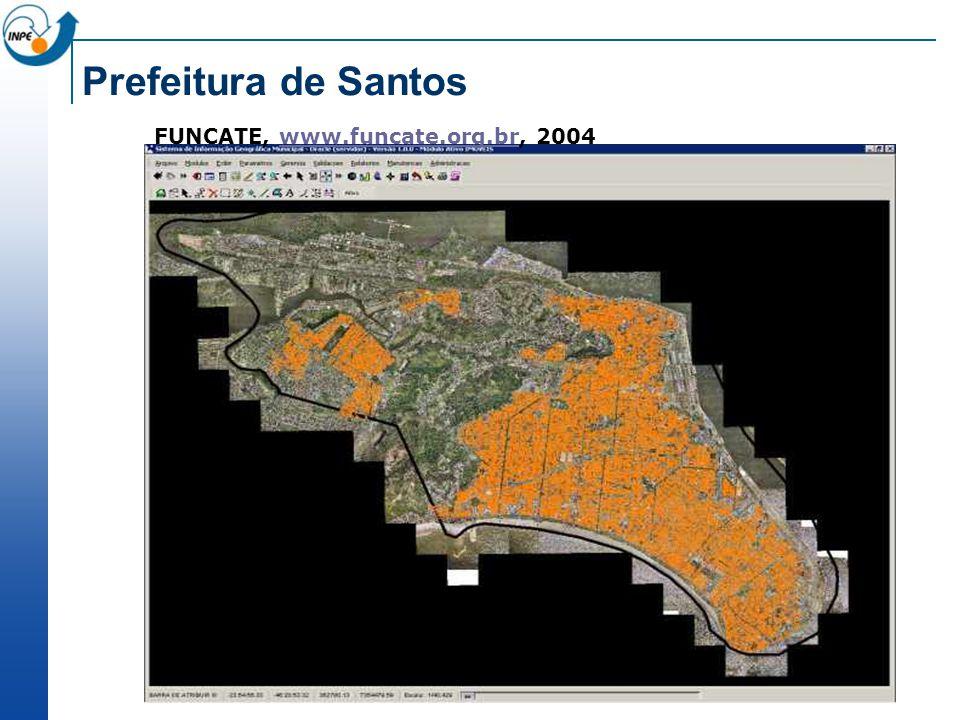 Prefeitura de Santos FUNCATE, www.funcate.org.br, 2004