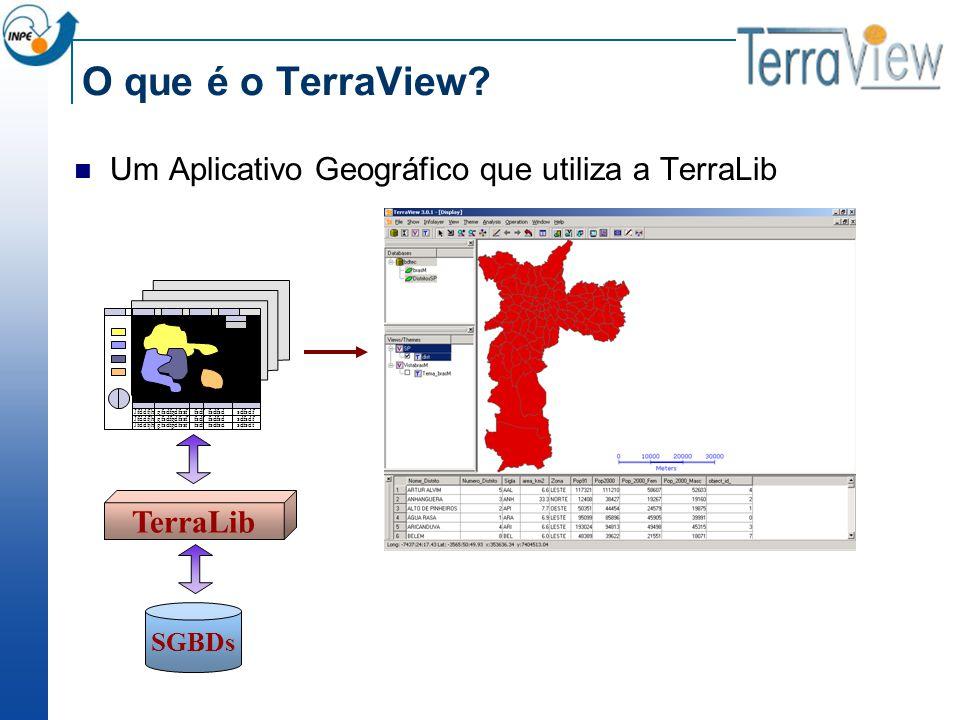 O que é o TerraView Um Aplicativo Geográfico que utiliza a TerraLib