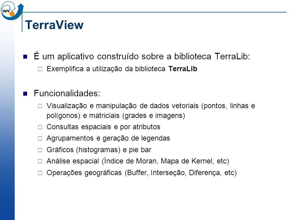TerraView É um aplicativo construído sobre a biblioteca TerraLib: