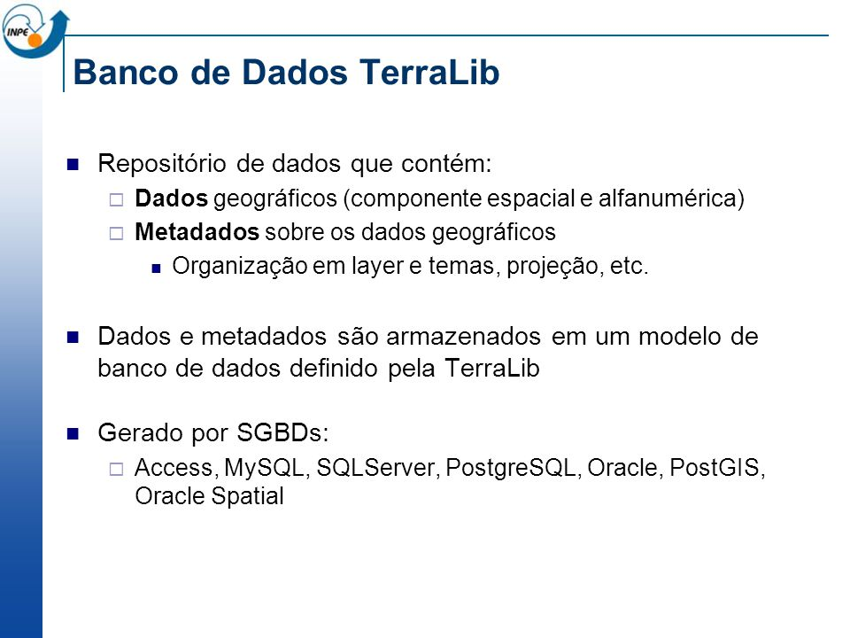Banco de Dados TerraLib