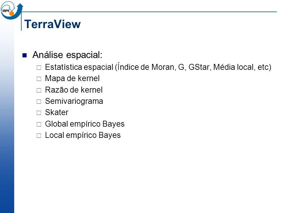 TerraView Análise espacial:
