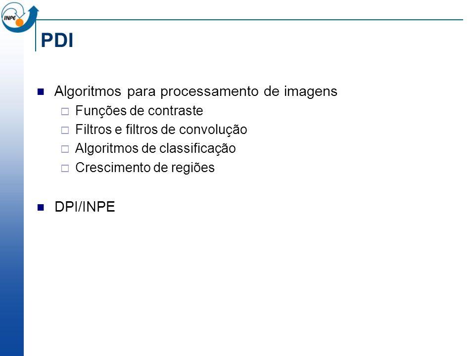 PDI Algoritmos para processamento de imagens DPI/INPE