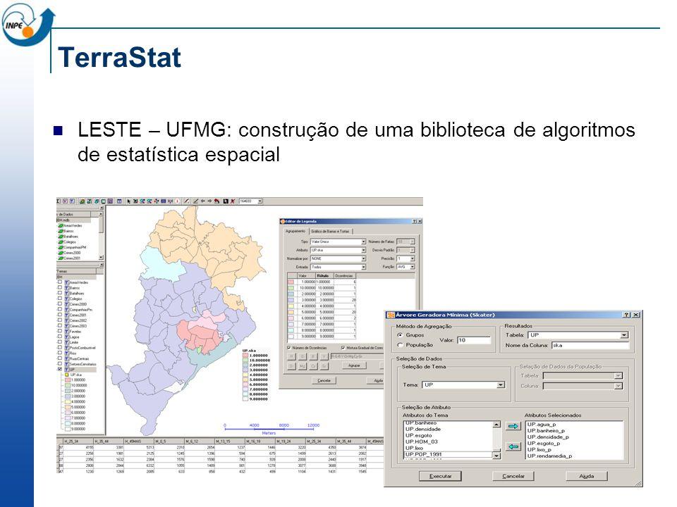 TerraStat LESTE – UFMG: construção de uma biblioteca de algoritmos de estatística espacial