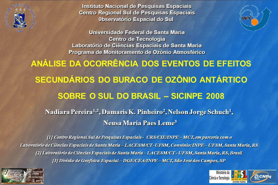 Nadiara Pereira1,2, Damaris K. Pinheiro2, Nelson Jorge Schuch1,
