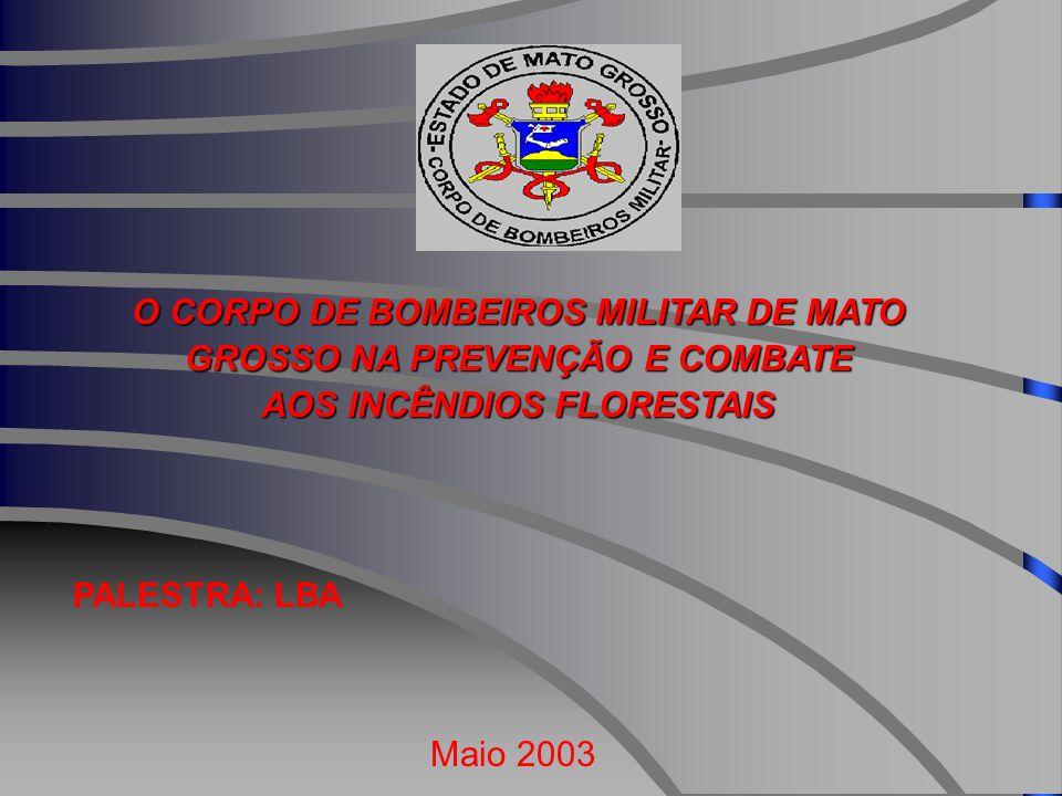 O CORPO DE BOMBEIROS MILITAR DE MATO GROSSO NA PREVENÇÃO E COMBATE AOS INCÊNDIOS FLORESTAIS