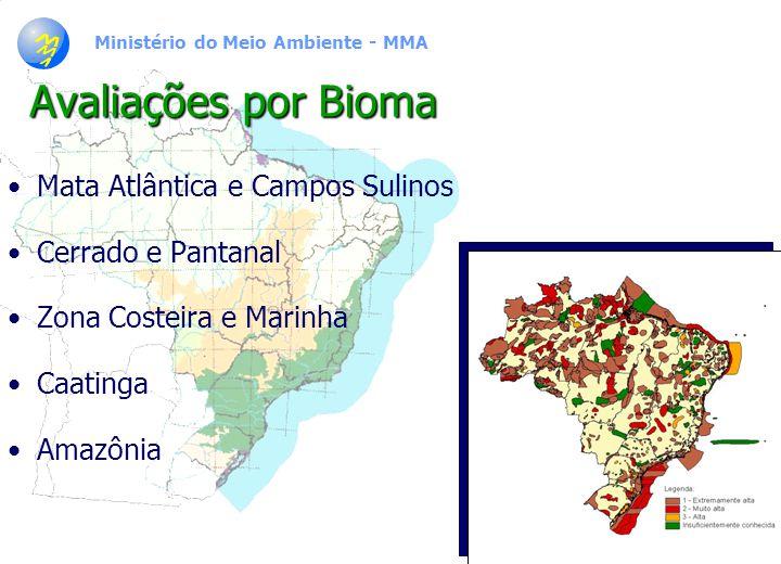 Avaliações por Bioma Mata Atlântica e Campos Sulinos
