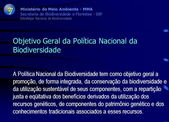 Objetivo Geral da Política Nacional da Biodiversidade