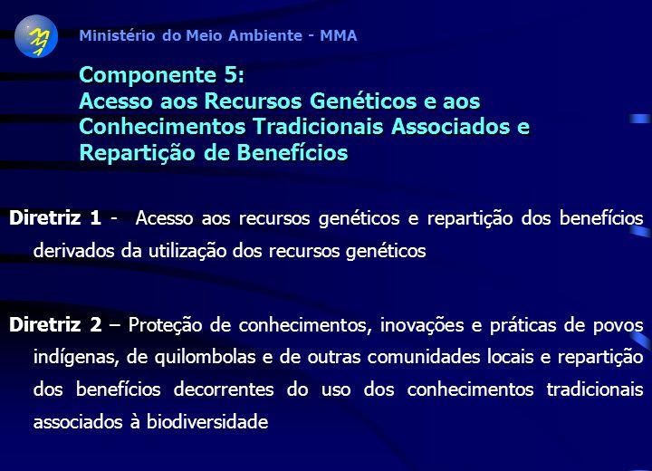 Componente 5: Acesso aos Recursos Genéticos e aos Conhecimentos Tradicionais Associados e Repartição de Benefícios
