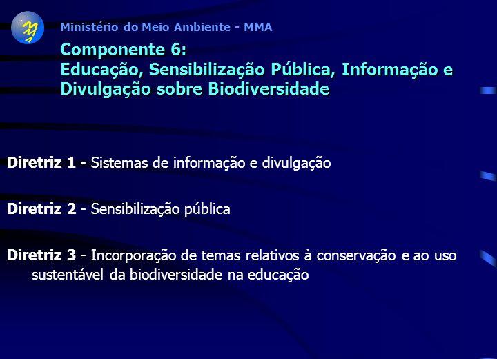Componente 6: Educação, Sensibilização Pública, Informação e Divulgação sobre Biodiversidade