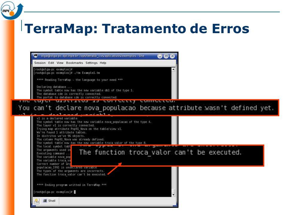 TerraMap: Tratamento de Erros