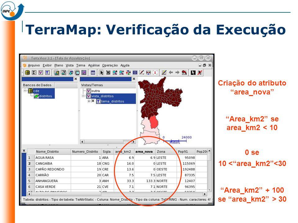 TerraMap: Verificação da Execução
