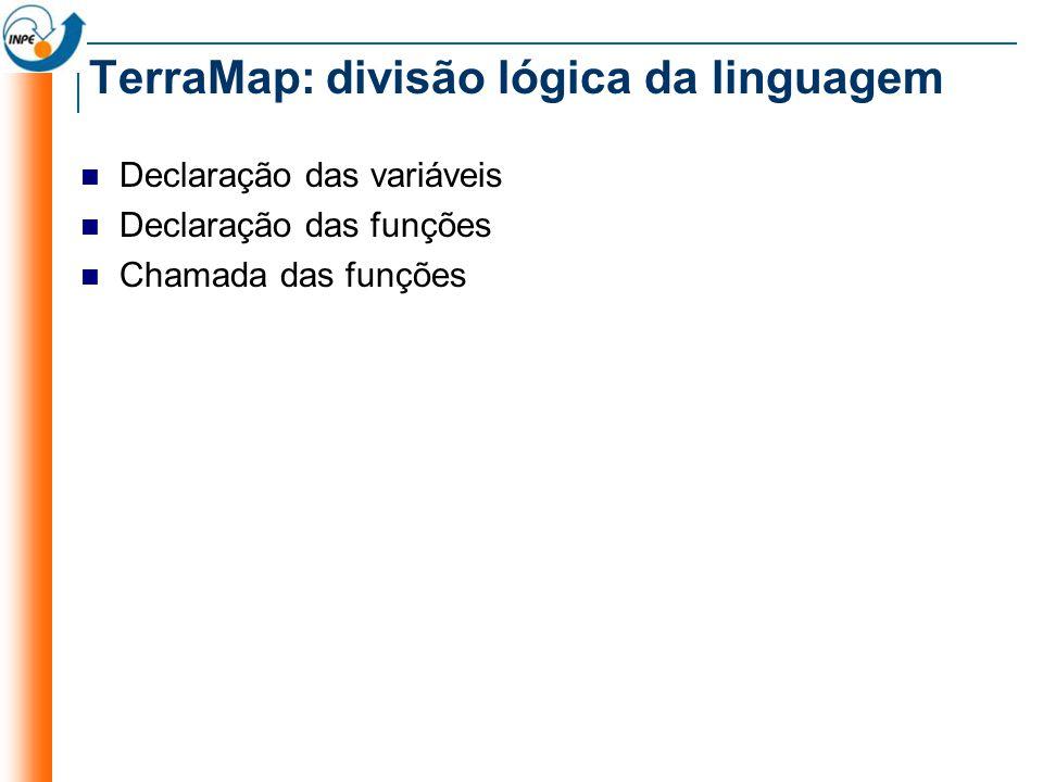 TerraMap: divisão lógica da linguagem
