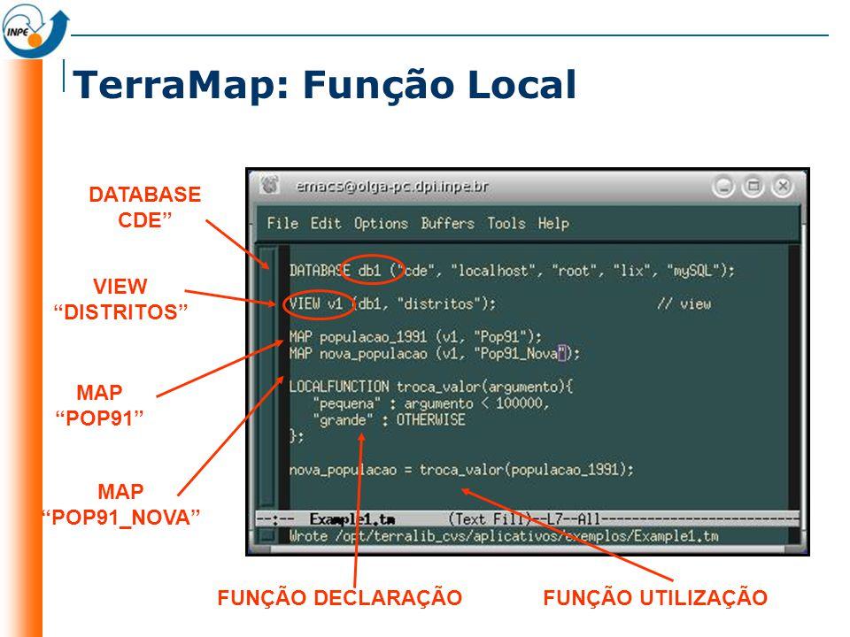 TerraMap: Função Local