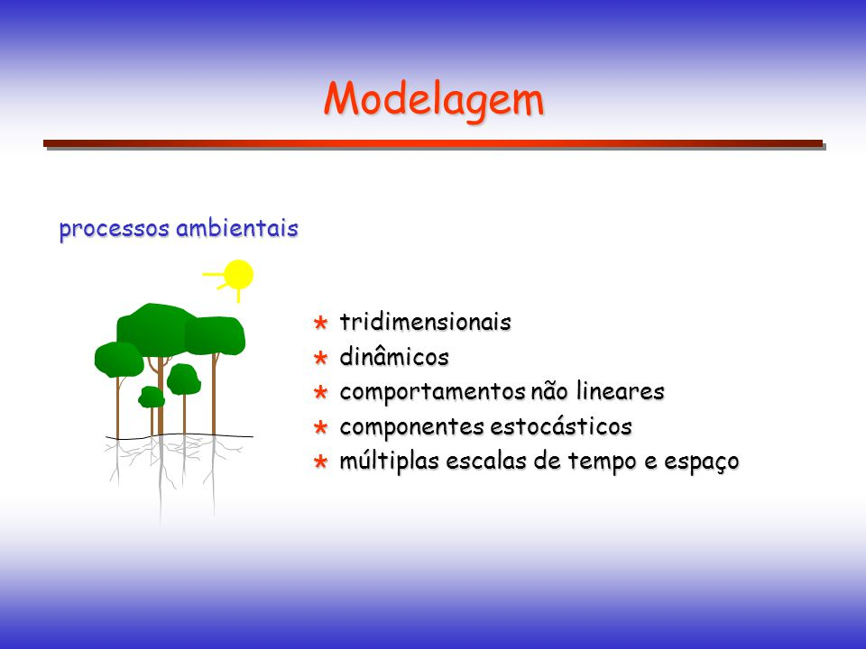 Modelagem processos ambientais tridimensionais dinâmicos