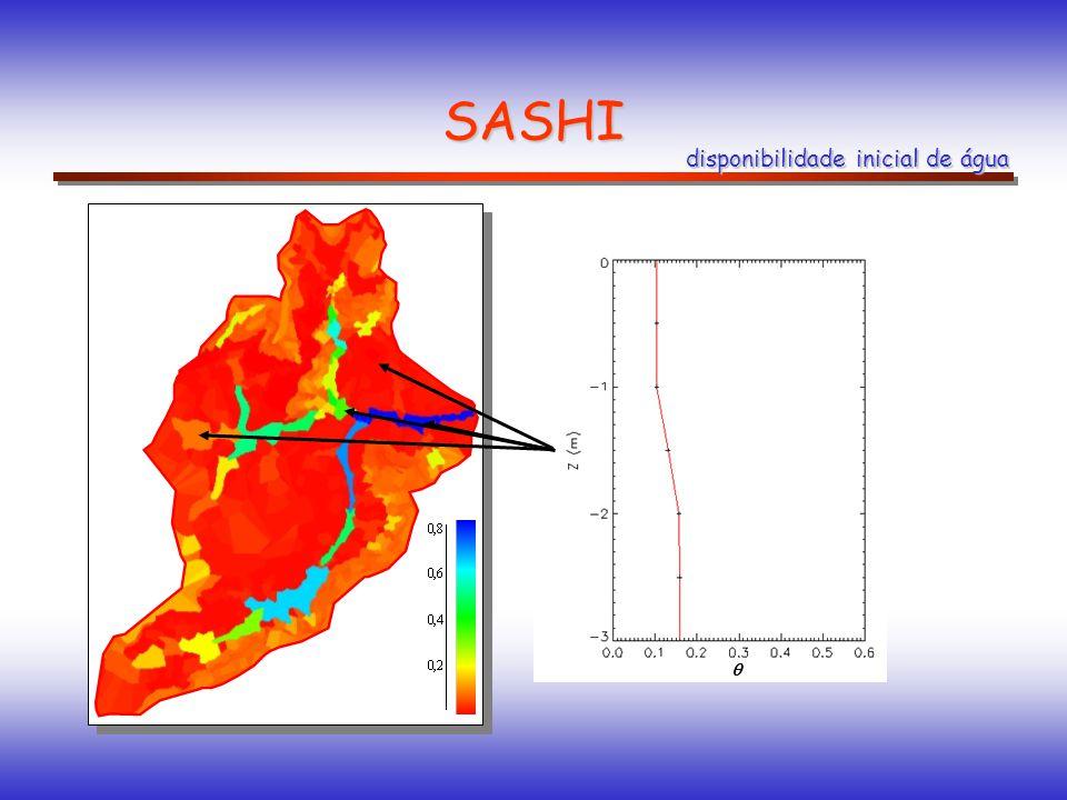 SASHI disponibilidade inicial de água 