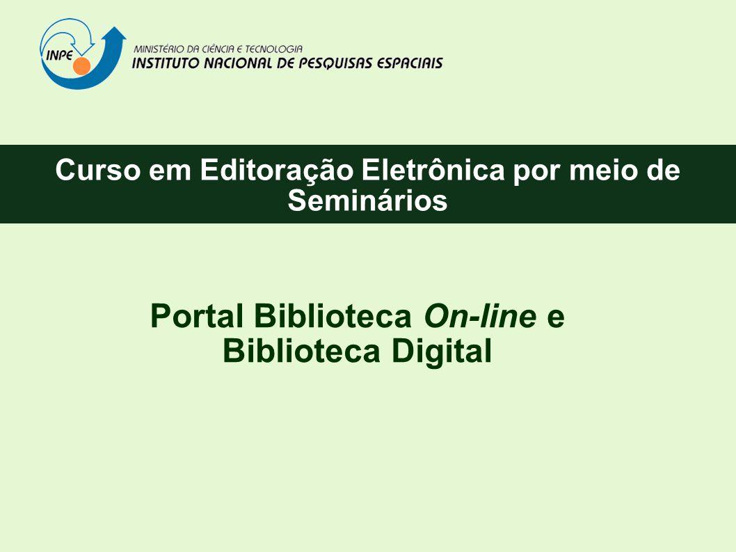 Portal Biblioteca On-line e Biblioteca Digital