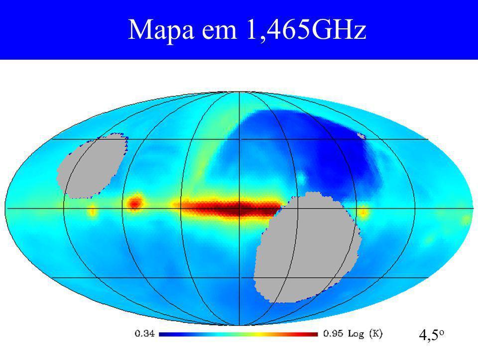 Mapa em 1,465GHz 4,5o