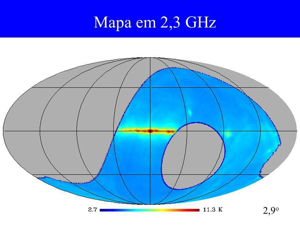 Mapa em 2,3 GHz 2,9o