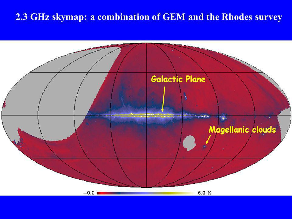 2.3 GHz skymap: a combination of GEM and the Rhodes survey