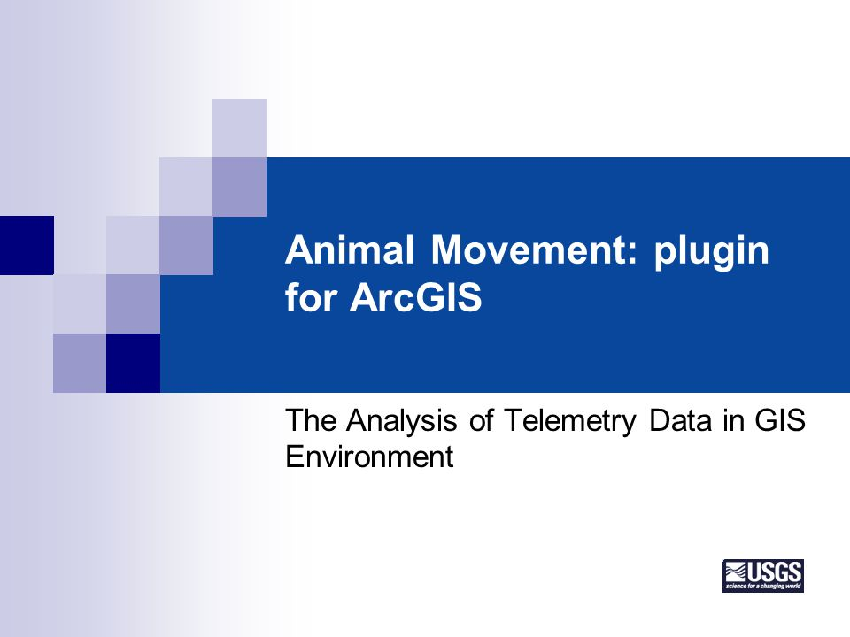 Animal Movement: plugin for ArcGIS