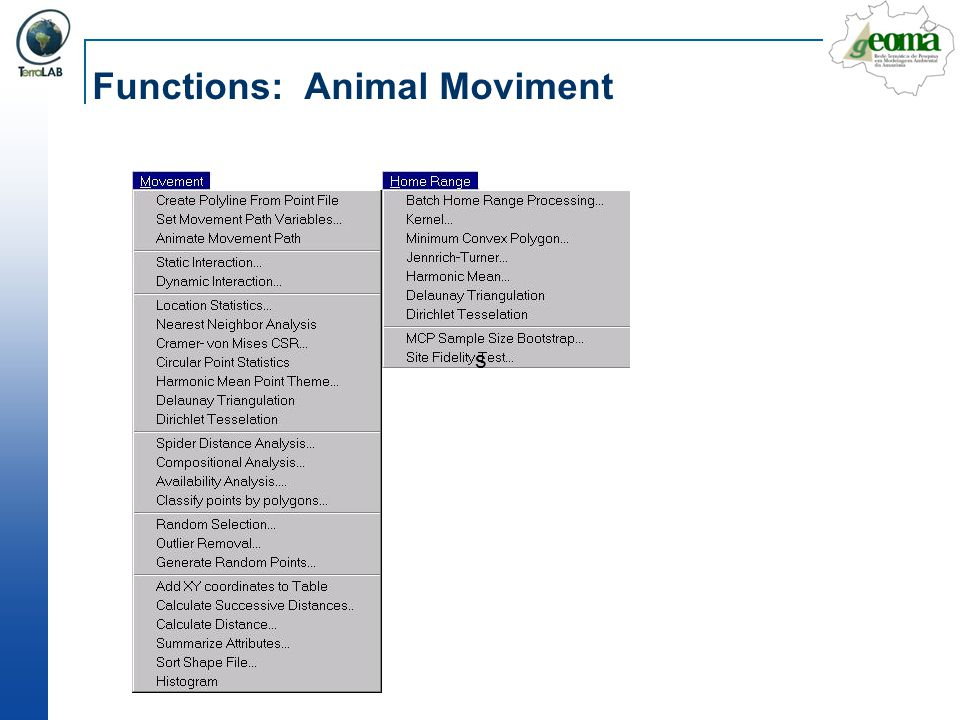 Functions: Animal Moviment