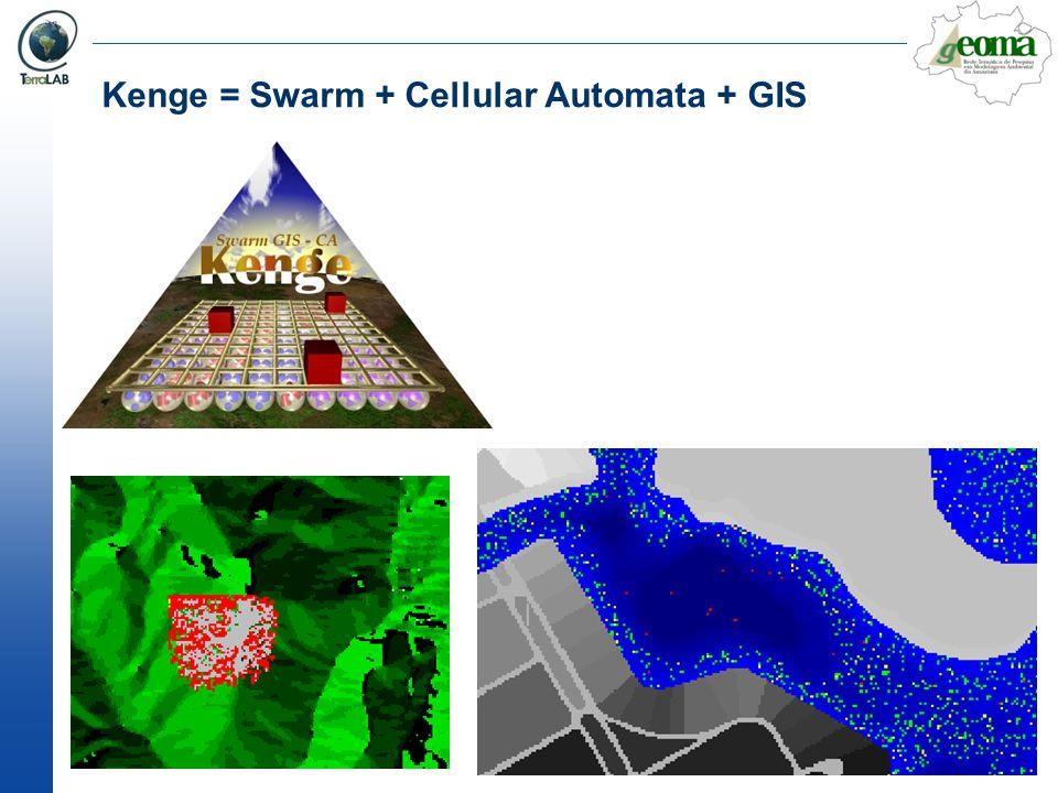 Kenge = Swarm + Cellular Automata + GIS