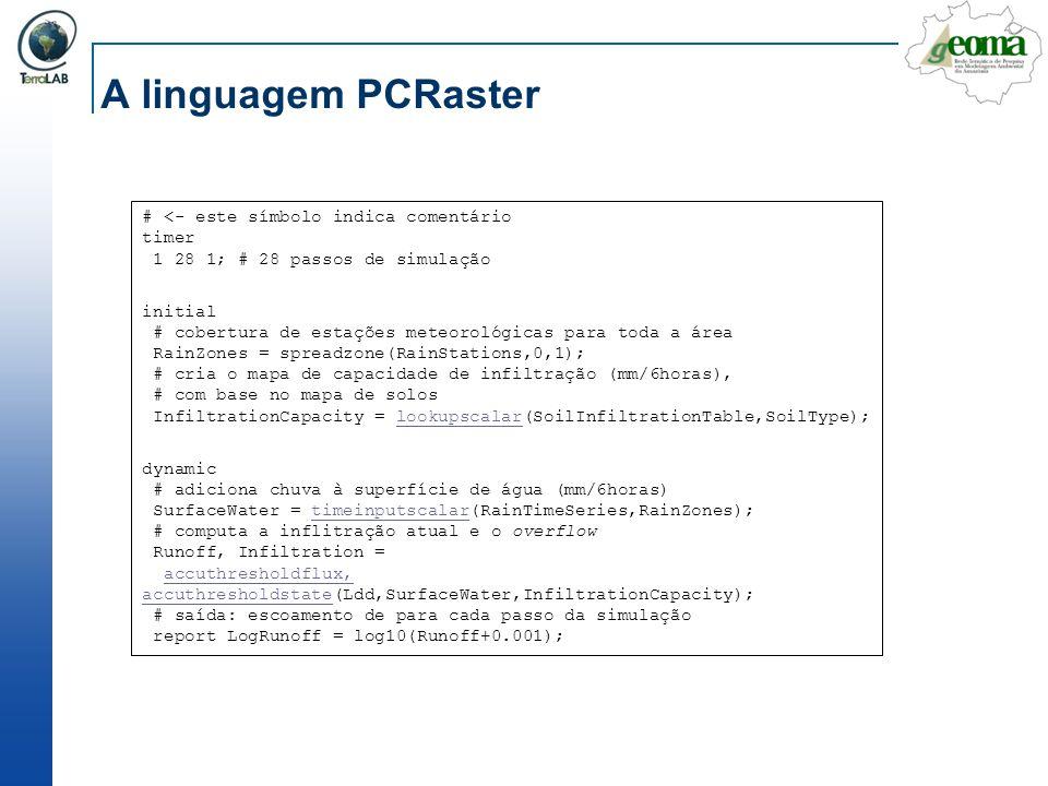 A linguagem PCRaster